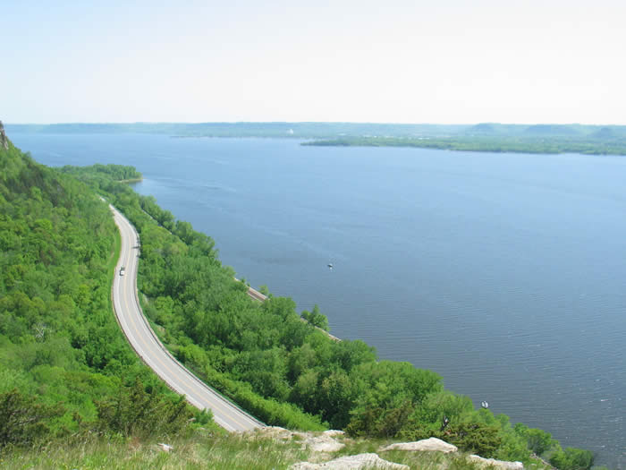 Lake Pepin from Mainden Rock Overlook